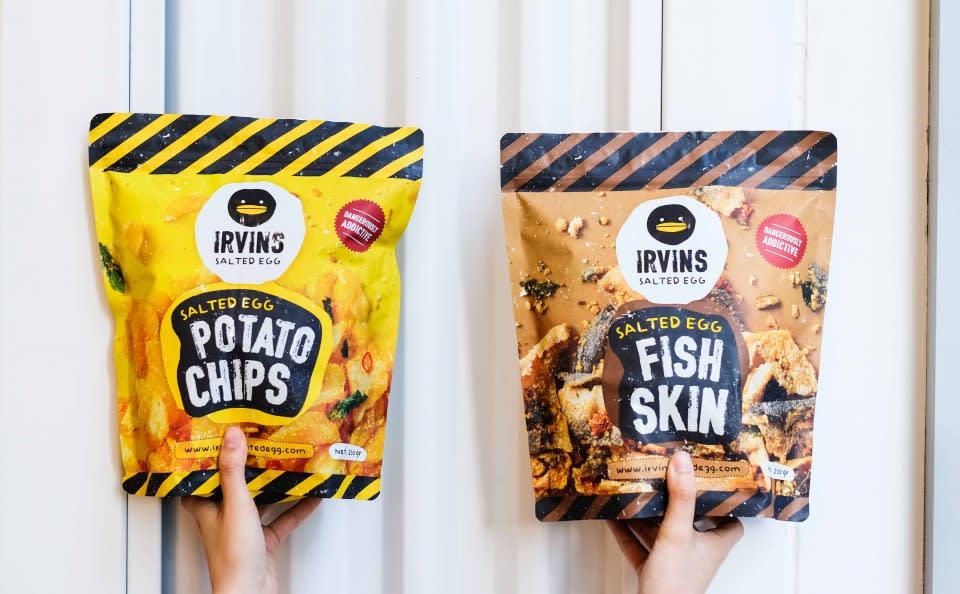 新加坡最紅伴手禮: Irvins 鹹蛋魚皮與薯片