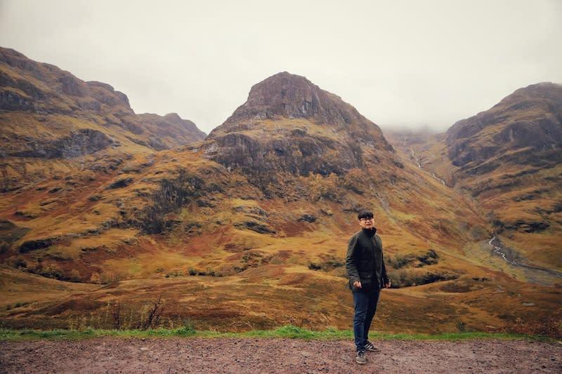 三姐妹山包含Beinn Fhada、Gearr Aonach 和 Aonach Dubh等三座山 。Photographer | Serina Su