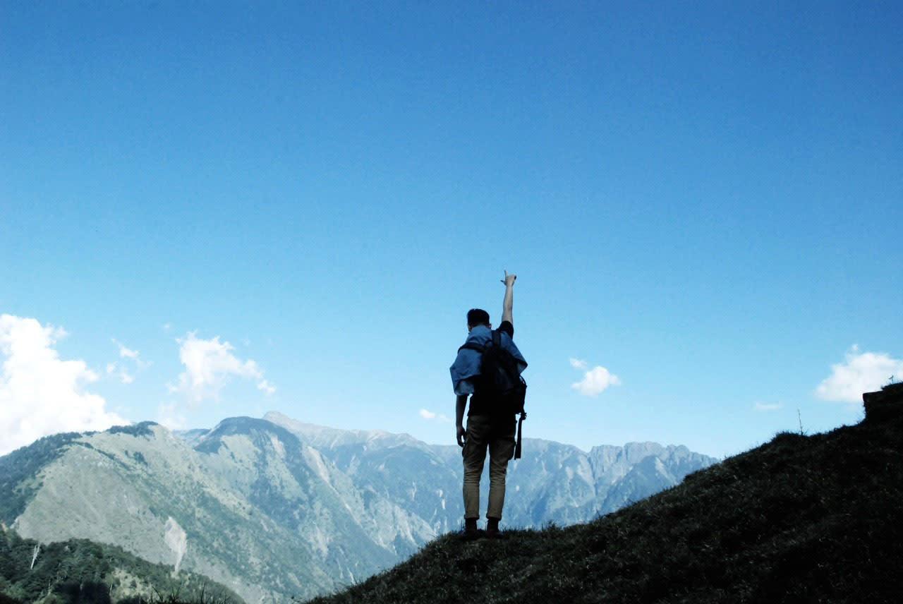 在鹿林山至高點 眺望玉山 (Photo / Ran )