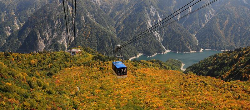 立山架空索道(照片來源:Tateyama Kurobe Alpine Route官網)https://www.alpen-route.com/tw/
