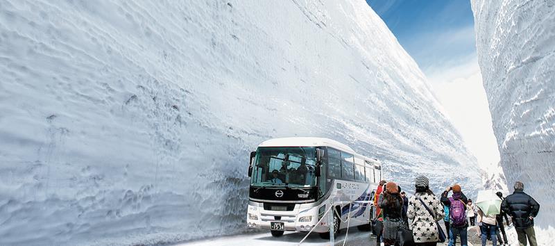 立山高原巴士(照片來源:Tateyama Kurobe Alpine Route官網)https://www.alpen-route.com/tw/
