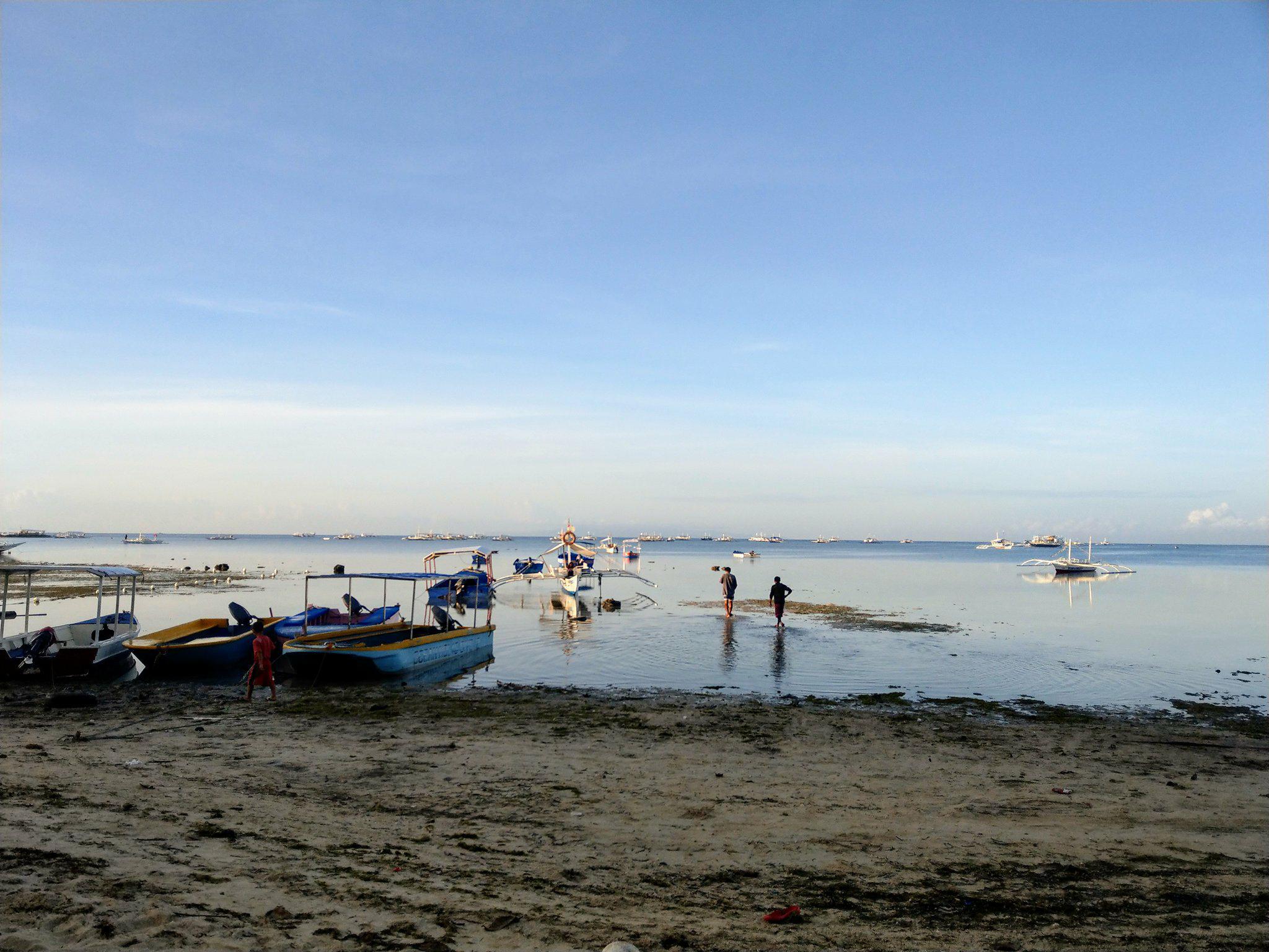 小船接駁大船前往鯨鯊行程|圖片來源:Vanessa