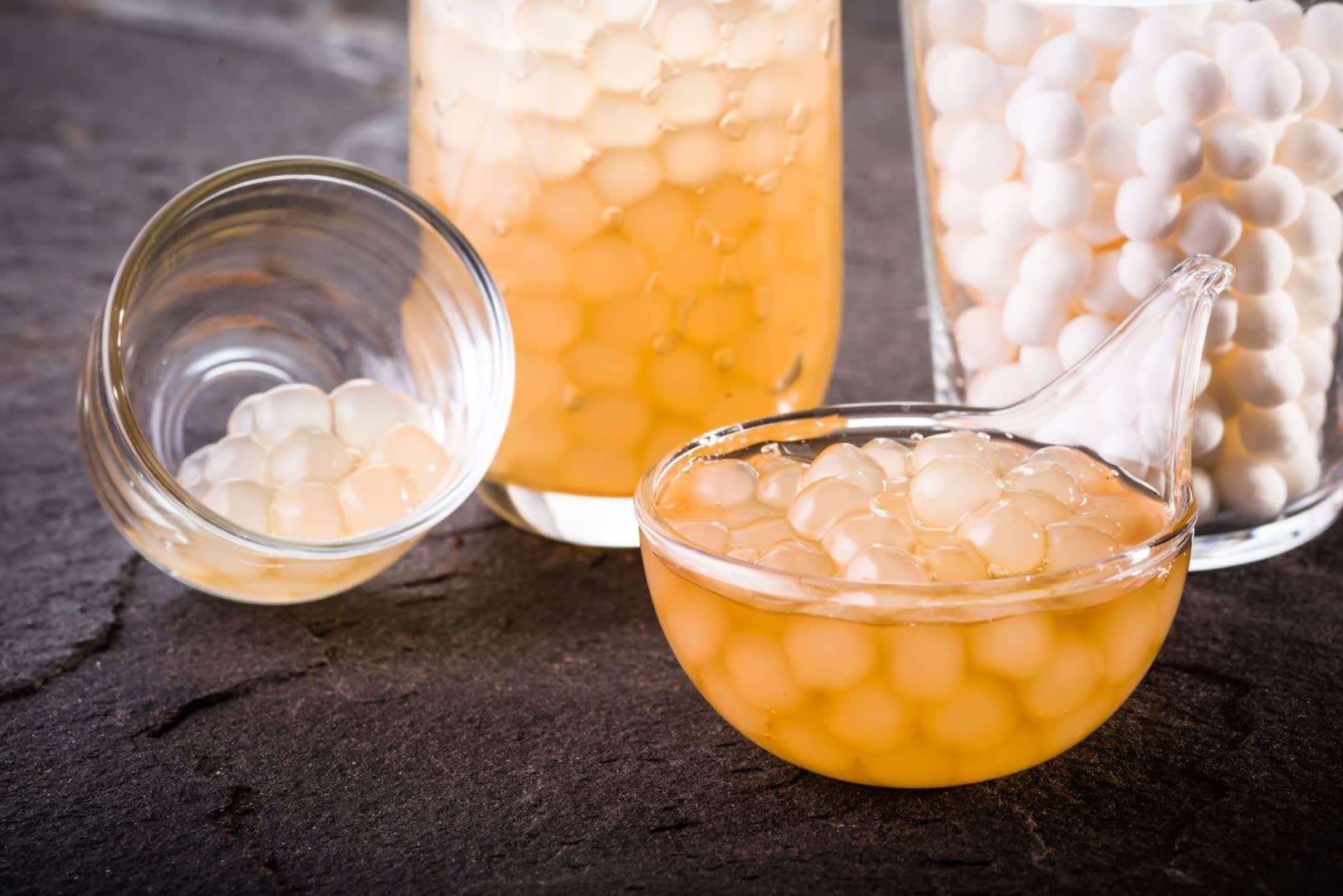 迷客夏也堅持製作完全沒有染色的木薯做成的白珍珠,Q彈又帶有蜜香