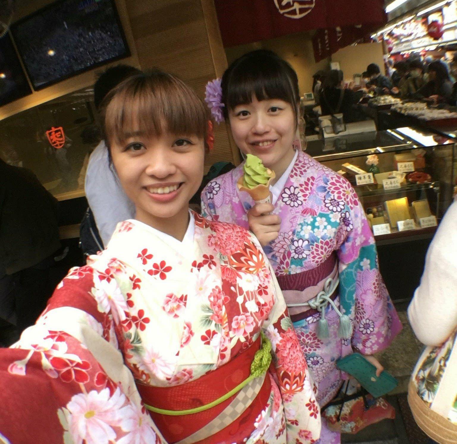 淺草寺附近的甜點隨便買都好好吃|photographer: Vanessa