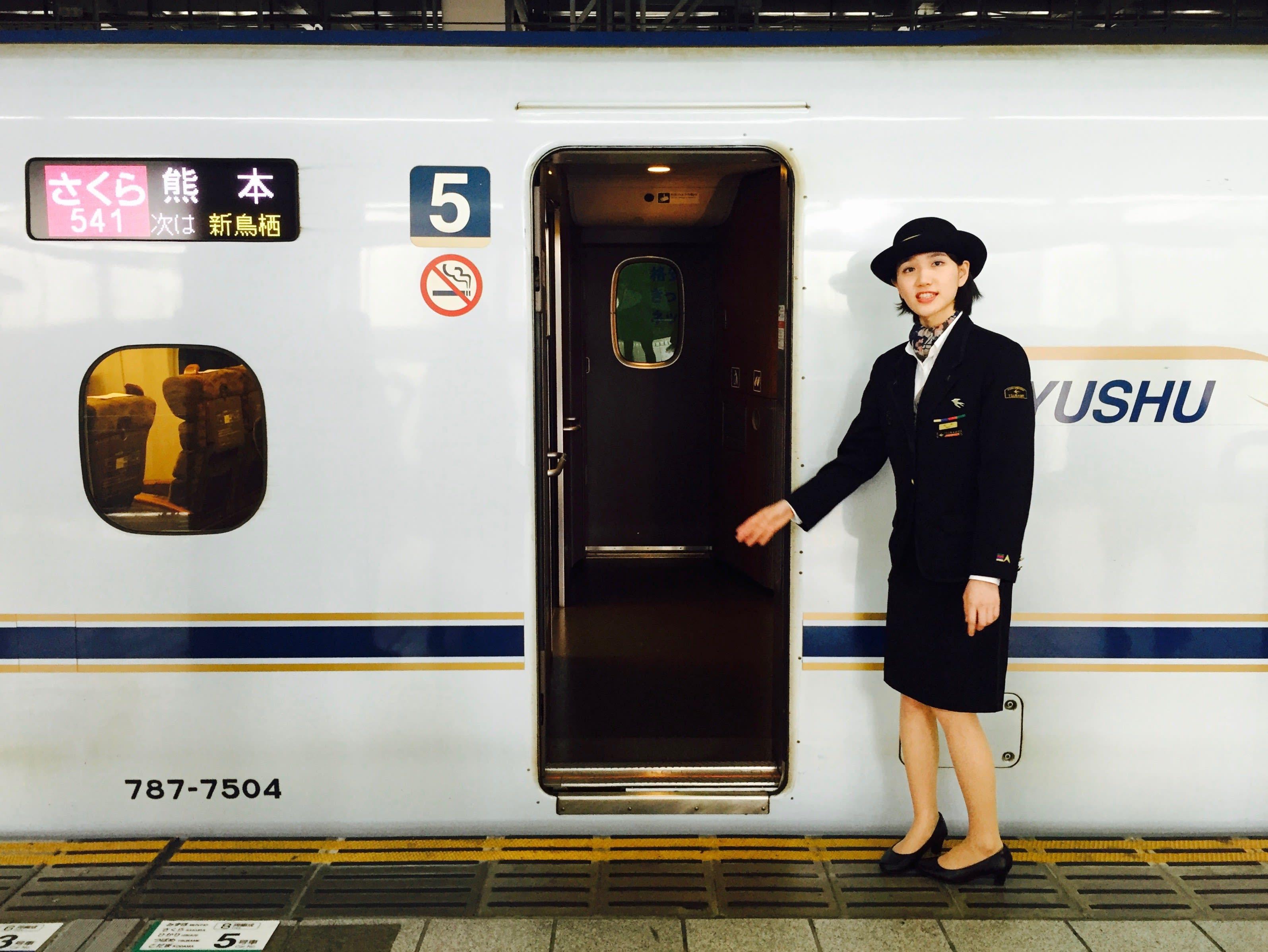 從福岡前往熊本的櫻花號。Photo|Zach