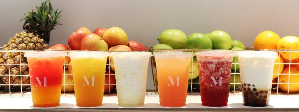 MAYBE 時尚水果飲品,有各式各樣的飲品, 色彩繽紛亮麗。
