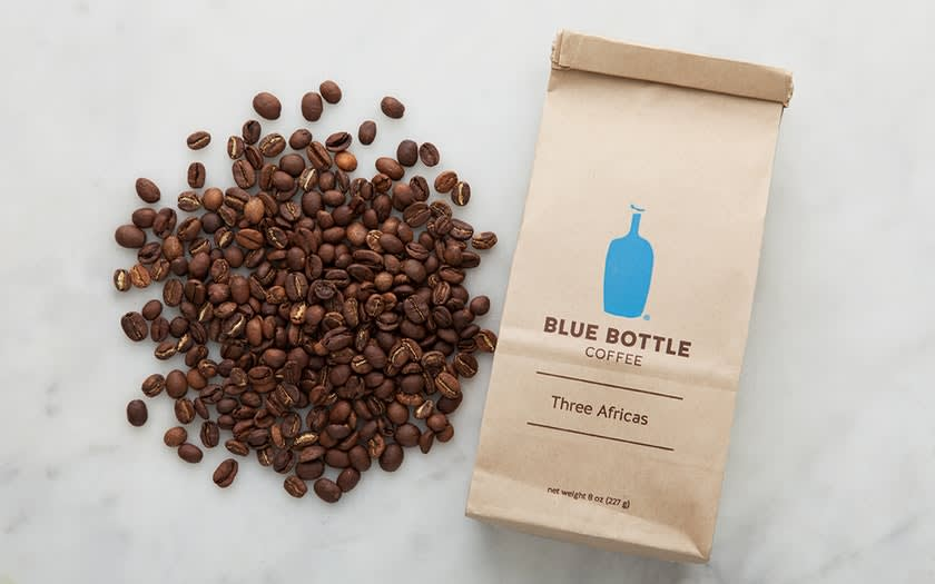 Blue Bottle的咖啡豆。(來源:goodeggs.com)