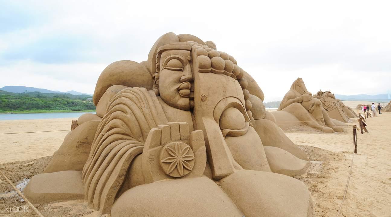 福隆海水浴場每年都會舉辦沙雕展。