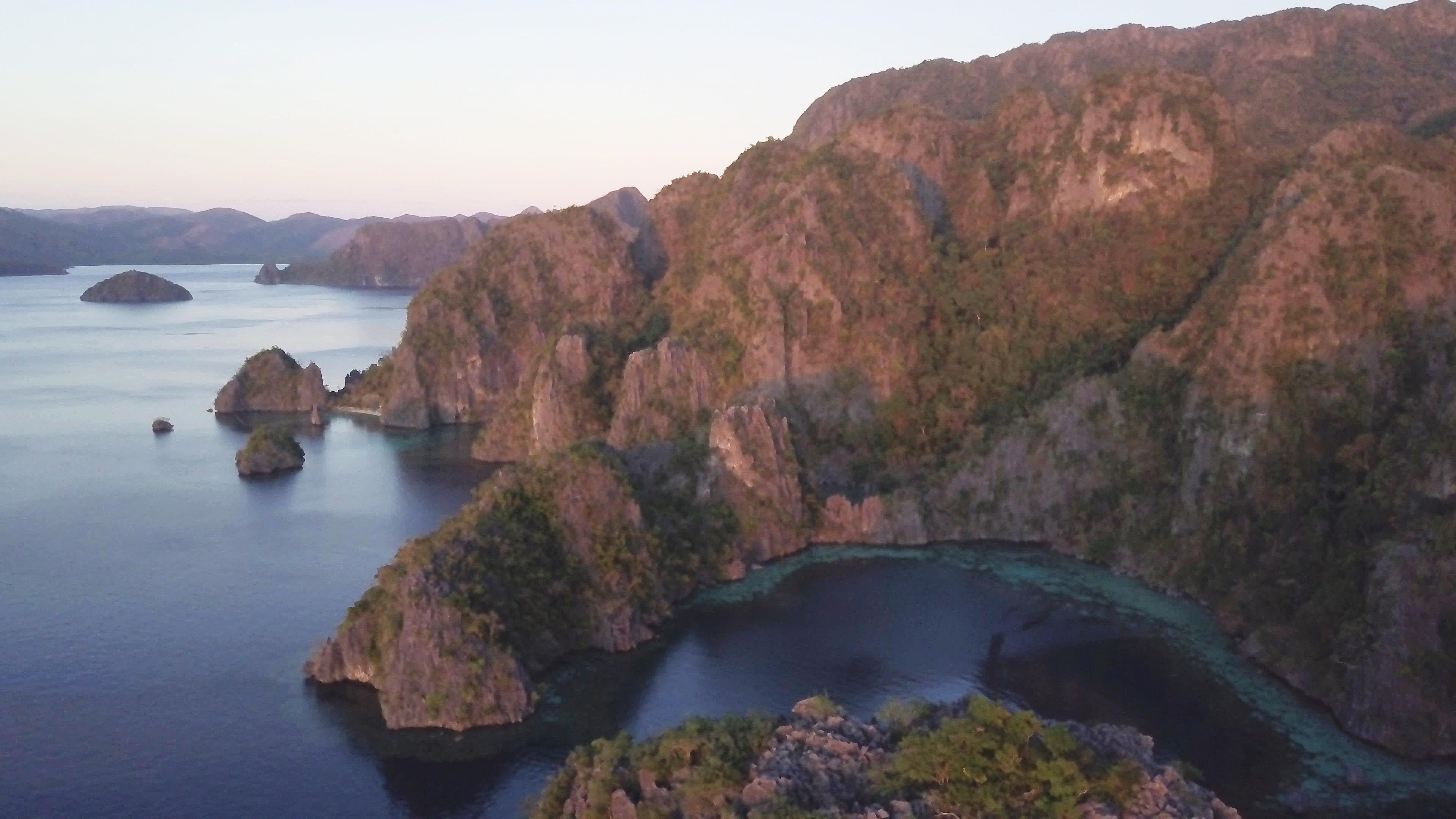 夕陽下的Barracuda lake