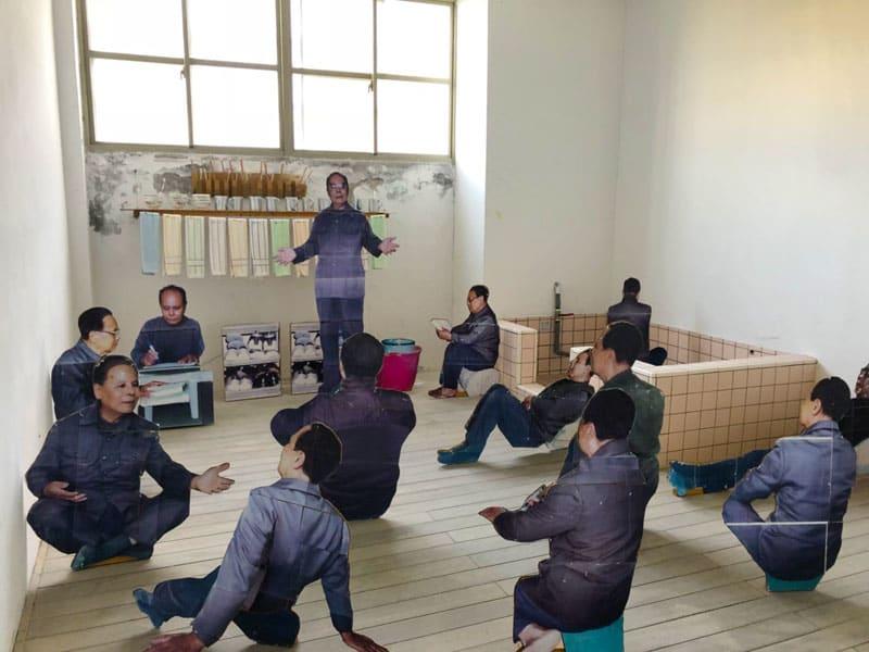 綠島監獄展示從前獄中犯人的生活。