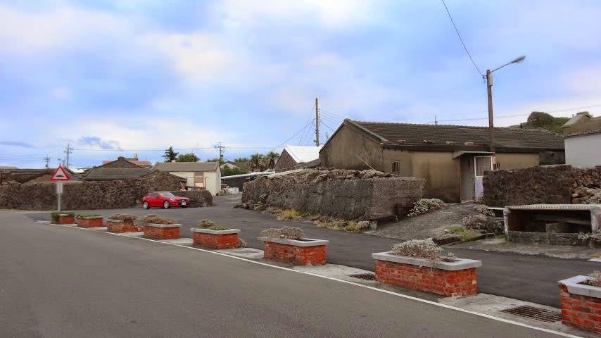 馬崗漁村石造平房建築。