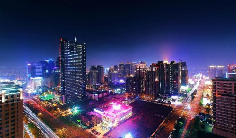 台中日月千禧酒店夜景
