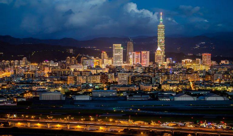 台北萬豪酒店俯看台北市