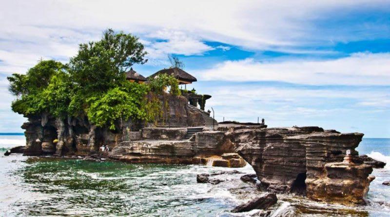 峇里島海神廟臨海壯麗落霞