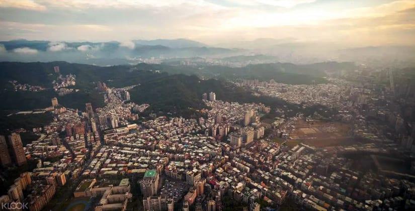 台北101觀景台視野。