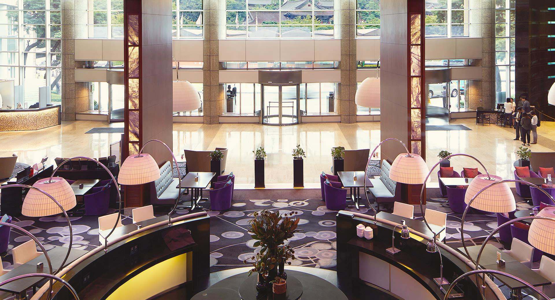 首爾COEX洲際酒店大廳一景。(圖片取自首爾COEX洲際酒店官網)