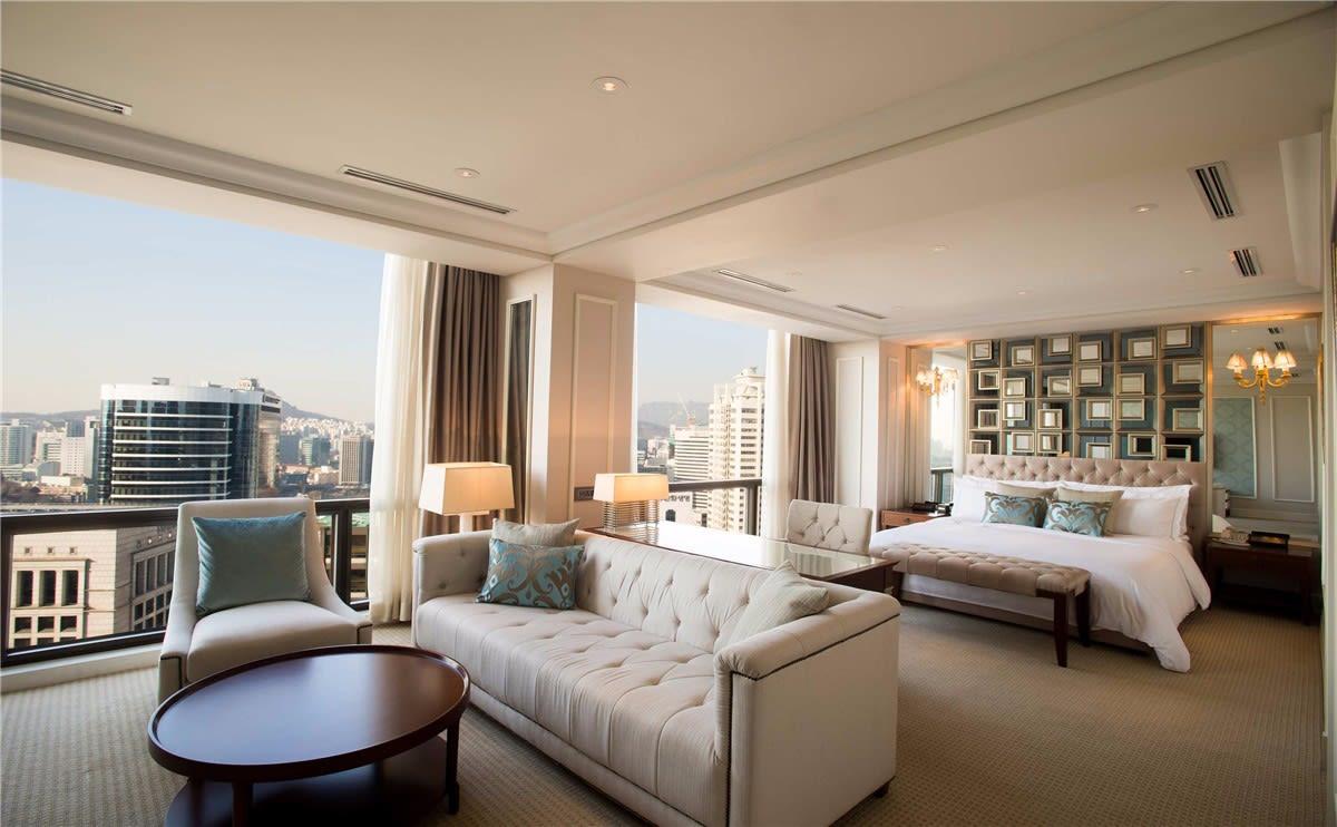 首爾希爾頓千禧酒店客房。(圖片取自首爾希爾頓千禧酒店官網)