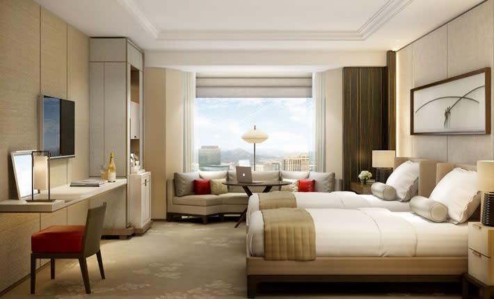 首爾樂天酒店客房。(圖片取自首爾樂天酒店官網)
