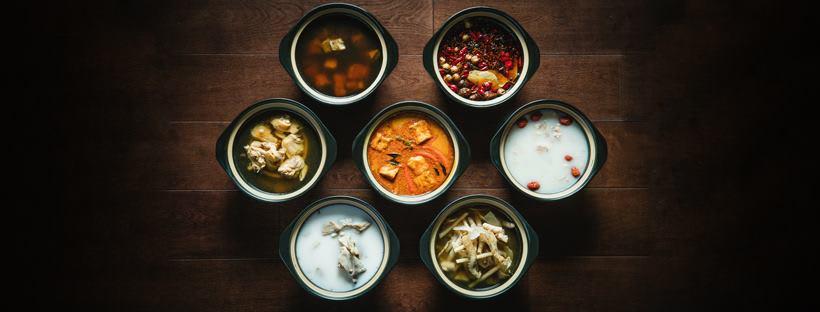 七種自製湯底,口感濃郁滑順。來源:FB。