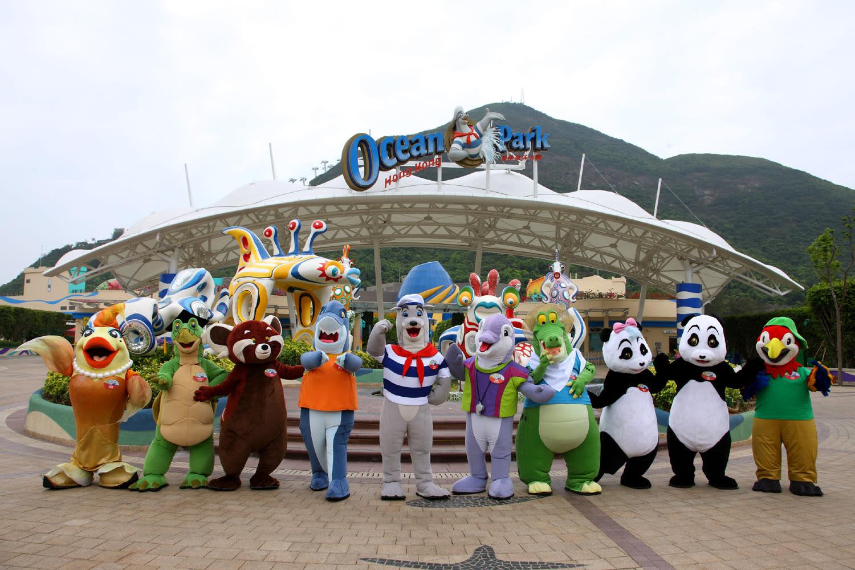 香港海洋公園吉祥物。來源:https://www.oceanpark.com.hk/en。