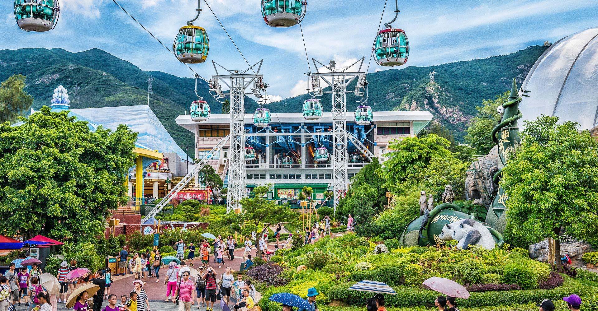 香港海洋公園,登山纜車。來源:香港海洋公園官方網站。
