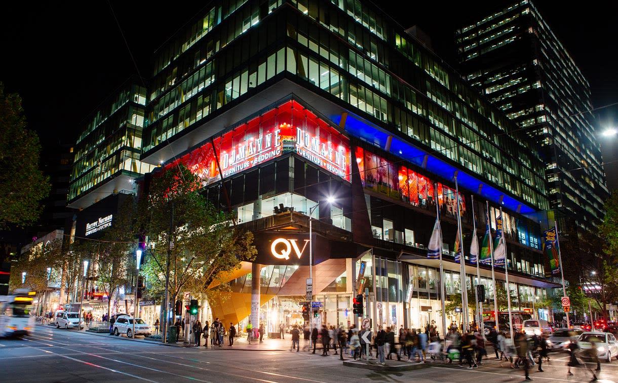時尚購物中心,小心荷包失血。(圖片取自QV百貨官網)