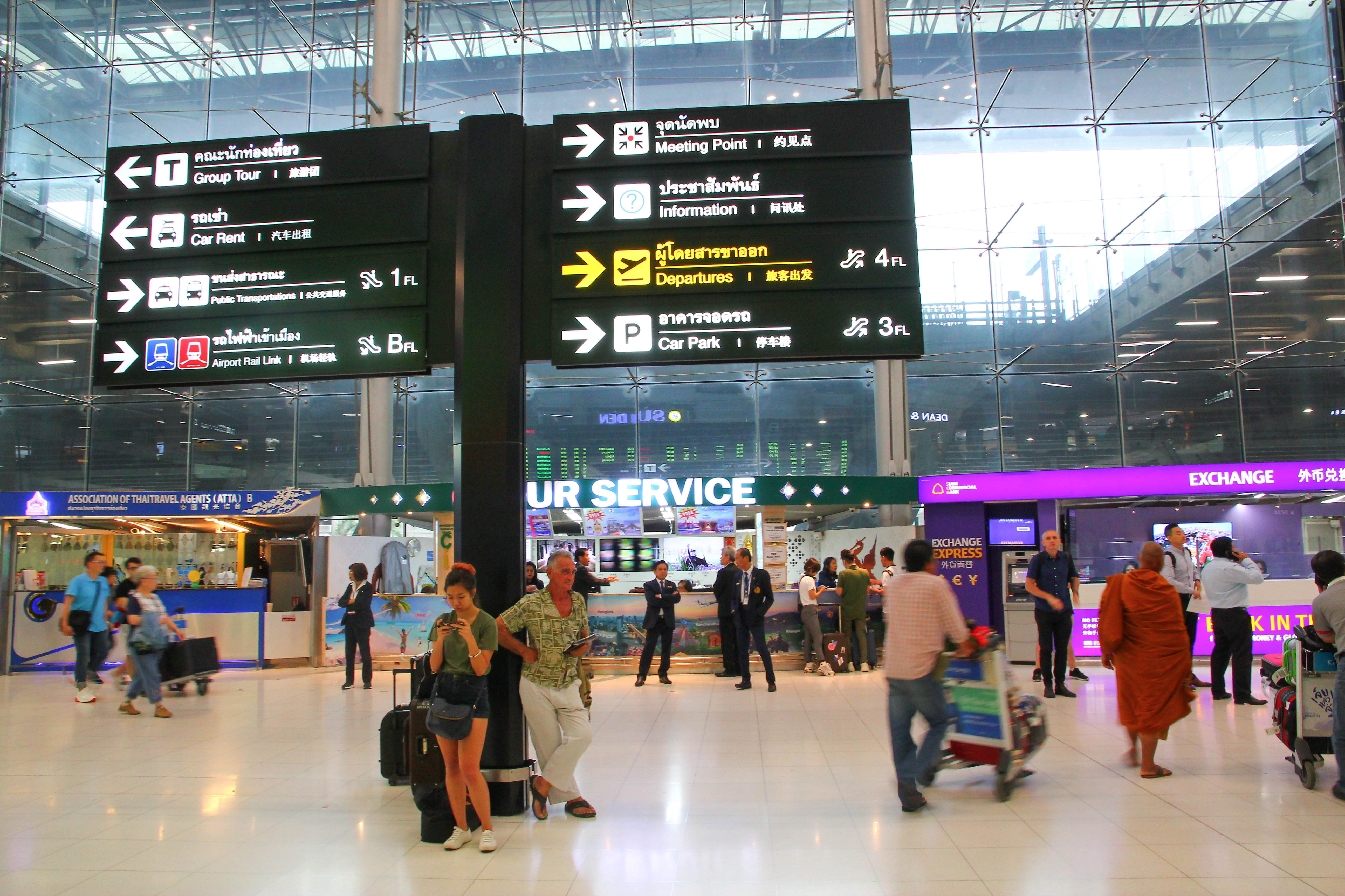 曼谷機場是個交通繁忙的地方。攝影:Rex。