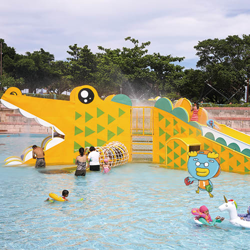圖片來自童玩節官網,鱷魚滑梯。
