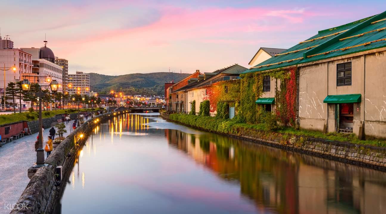 小樽運河,圖片來自客路官方網站。