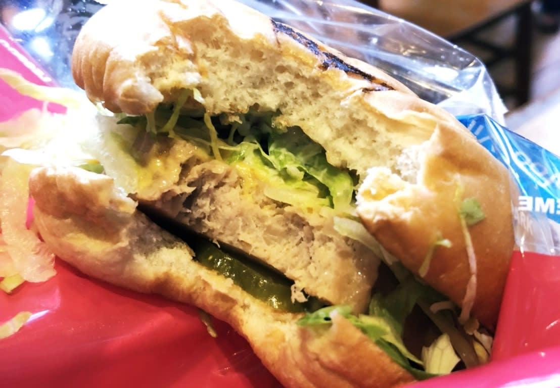 六福村美國大西部,漢堡店,素食漢堡。