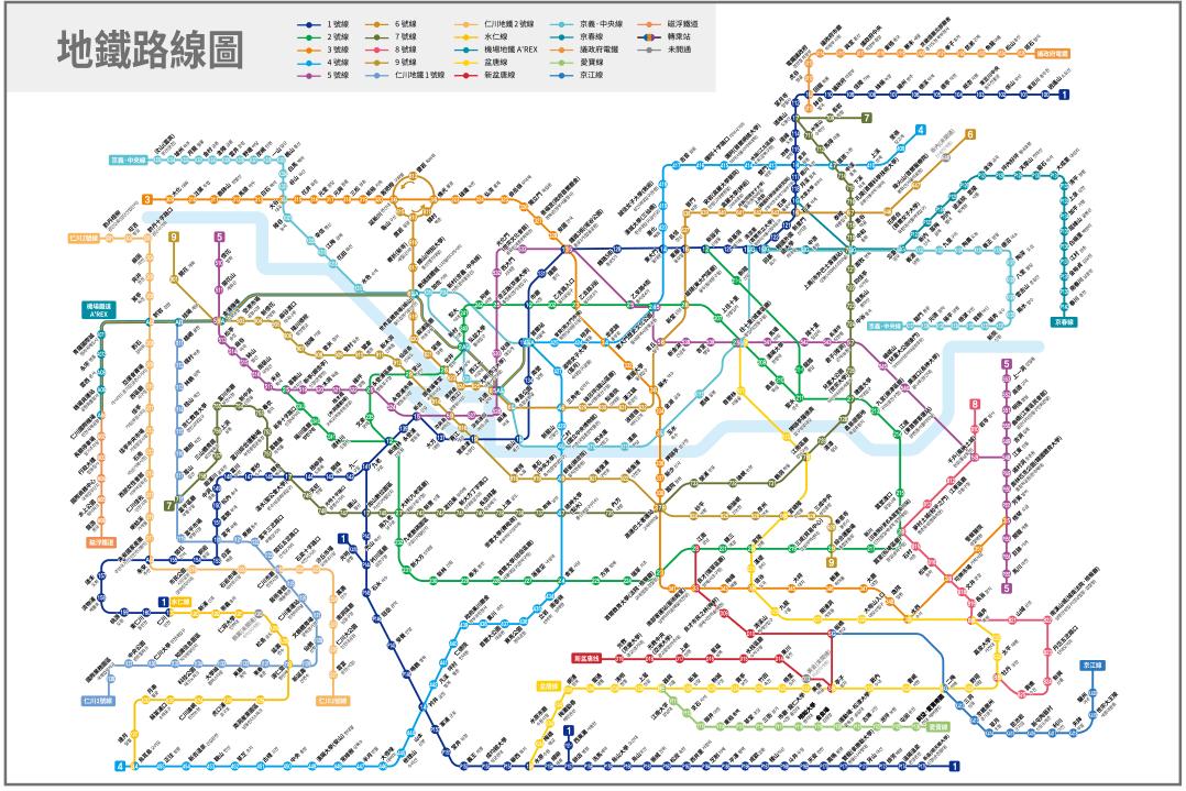 首爾地鐵全圖,圖片來自:Visit Seoul Net