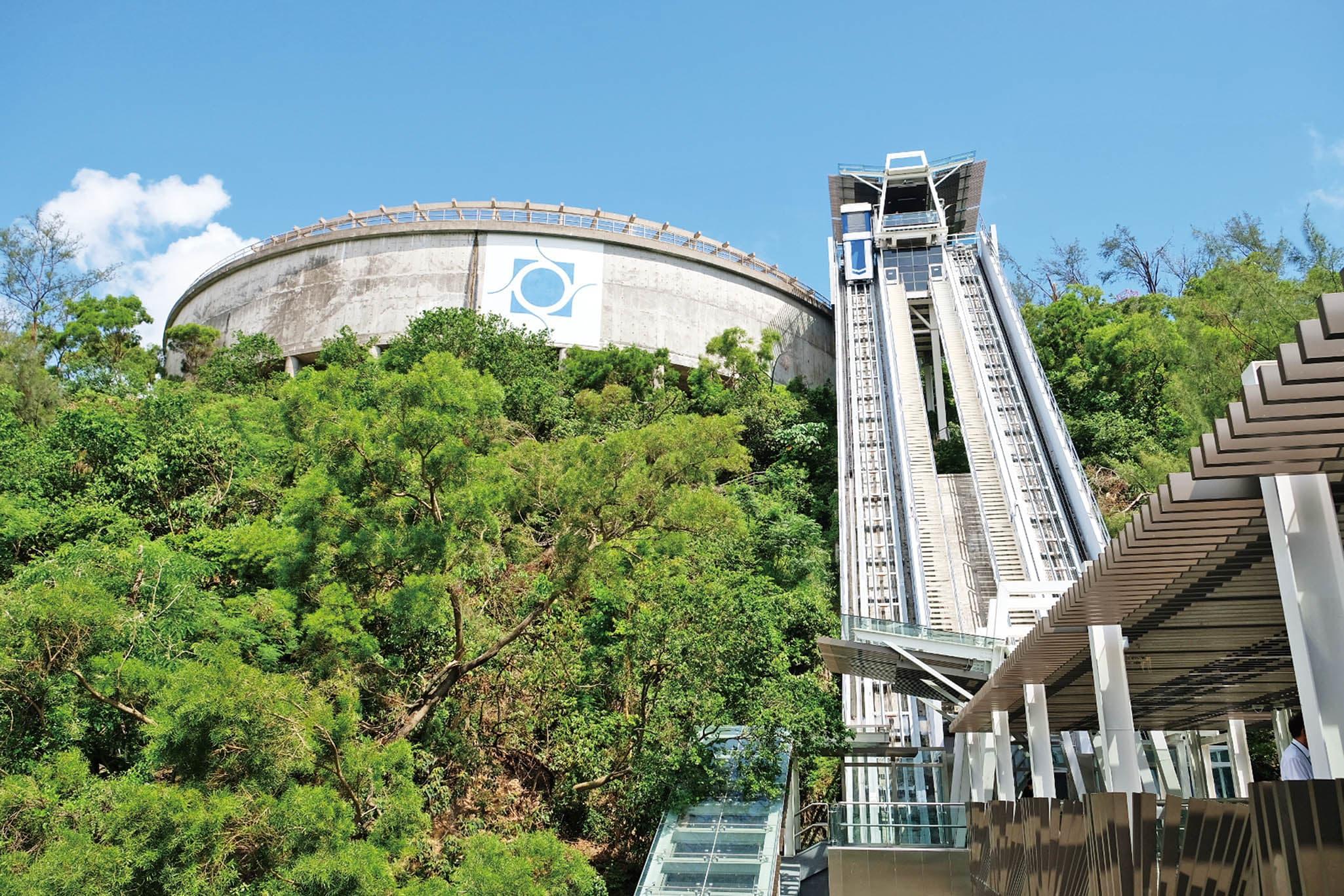 大潭山斜行升降機 來源:澳門旅遊網