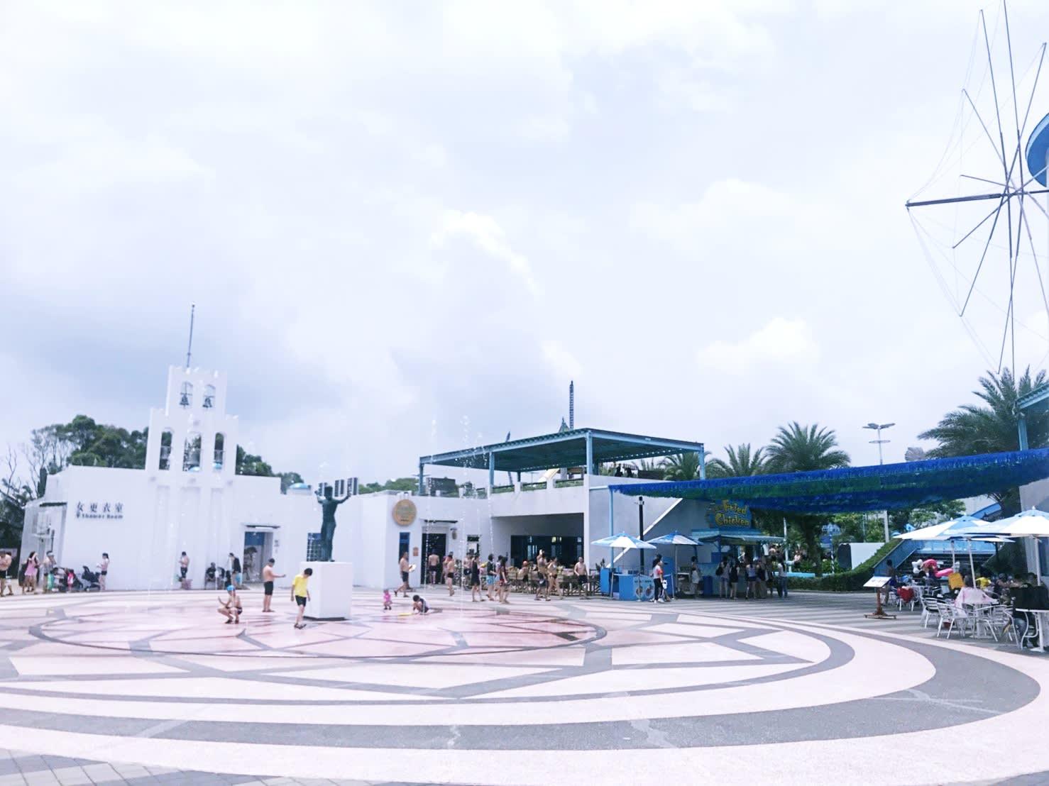 六福村水樂園,水舞廣場。