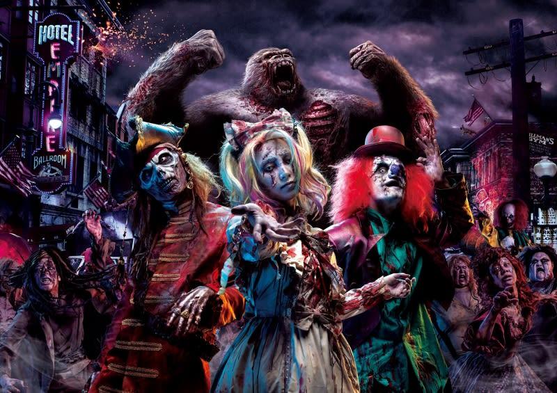 街頭殭屍大遊行,圖片取自:環球影城官方網站。