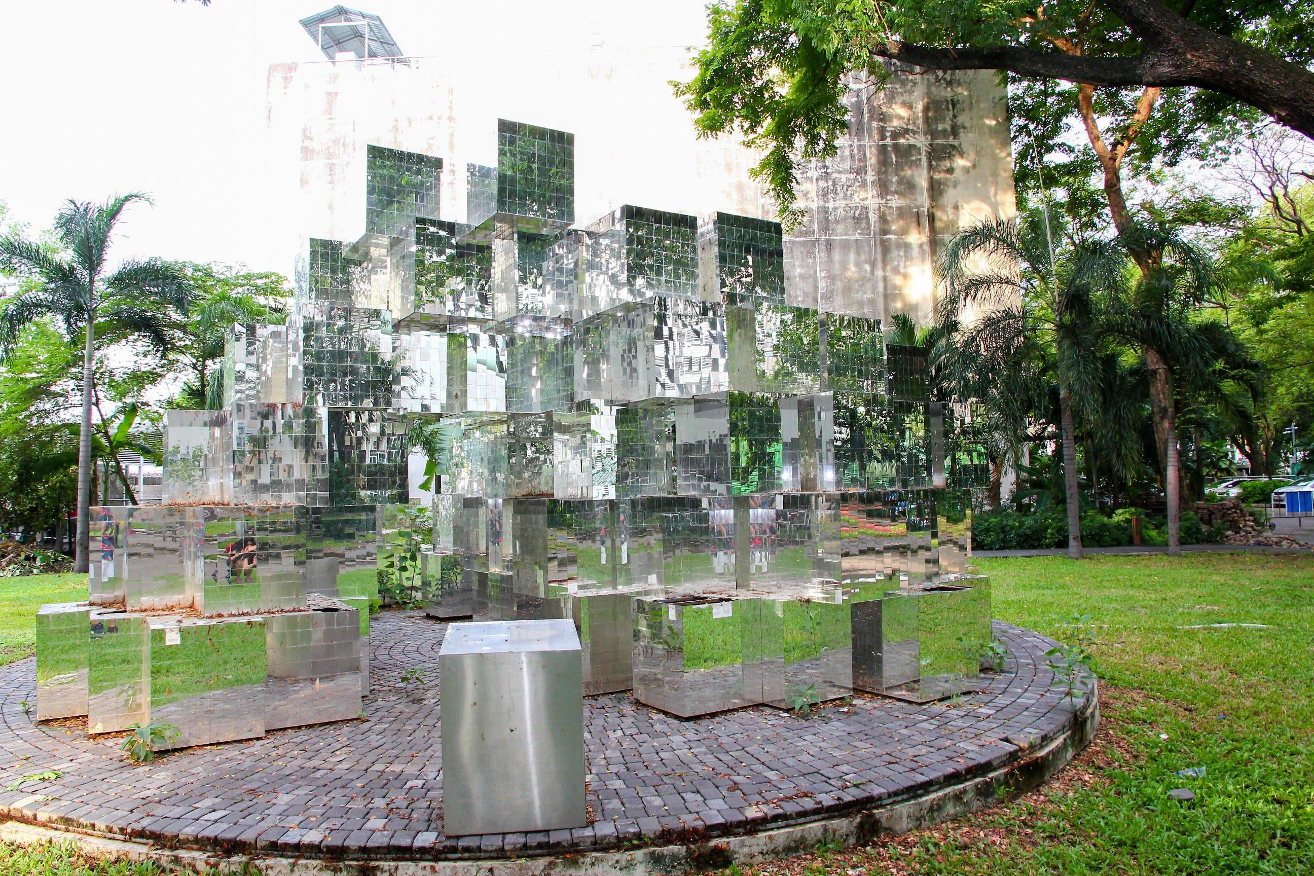 朱拉隆功大學有許多隱藏版的小景點喔!攝影:Rex。