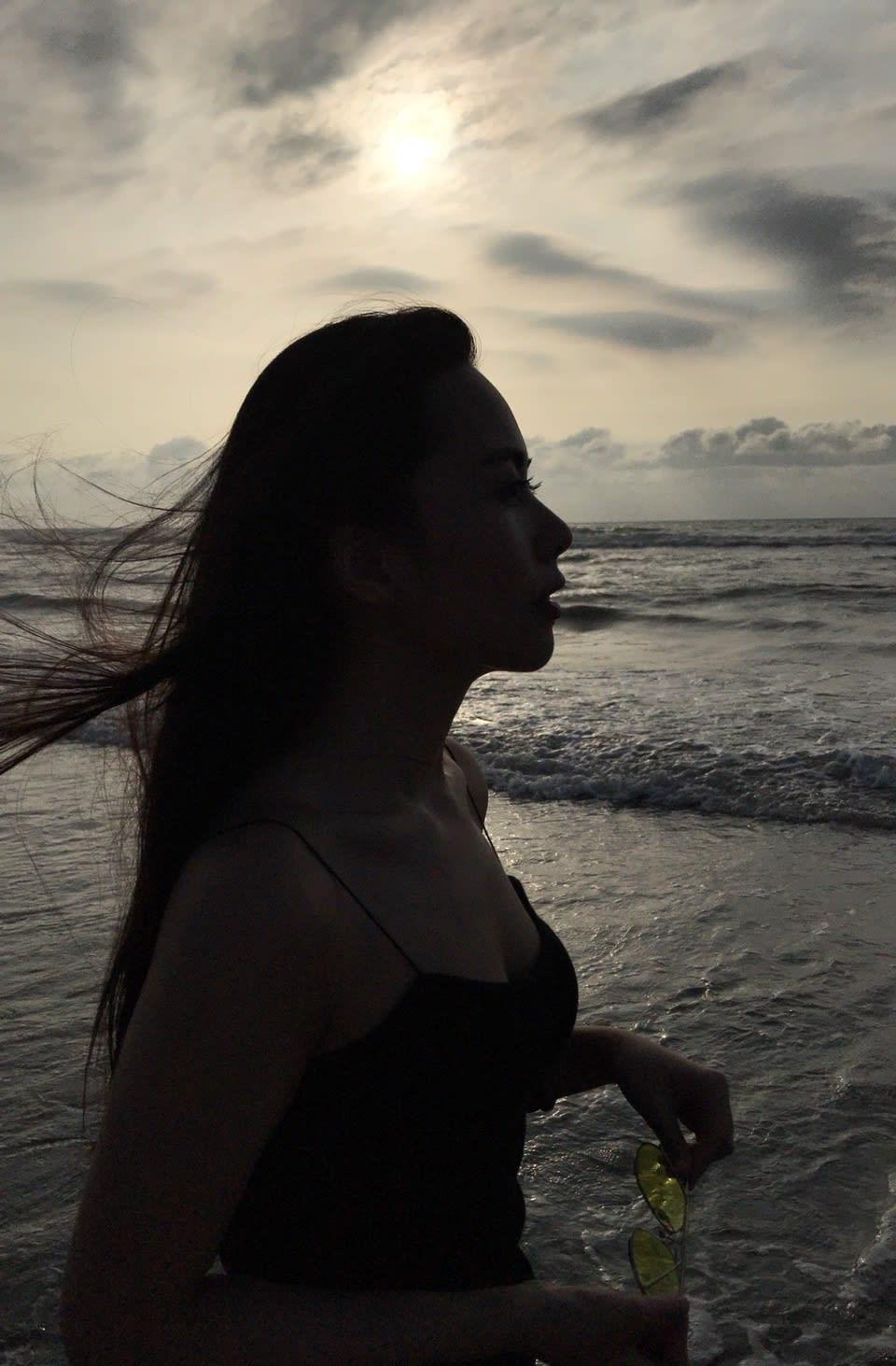 新竹新月沙灘的夕陽非常迷人,圖片取自:Ann。