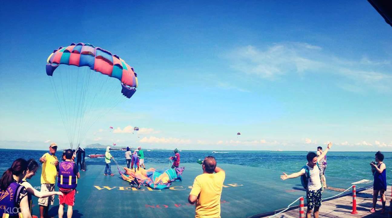 格蘭島拖曳傘。