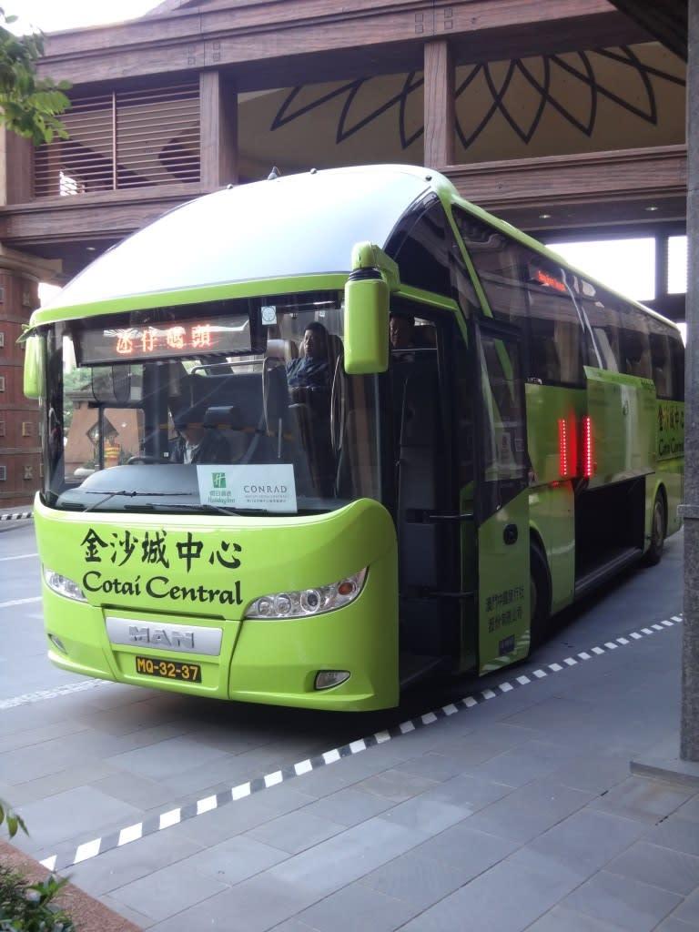 ▲ 金沙城中心穿梭巴士(圖片來源:飯糰媽吃喝玩樂雜記)