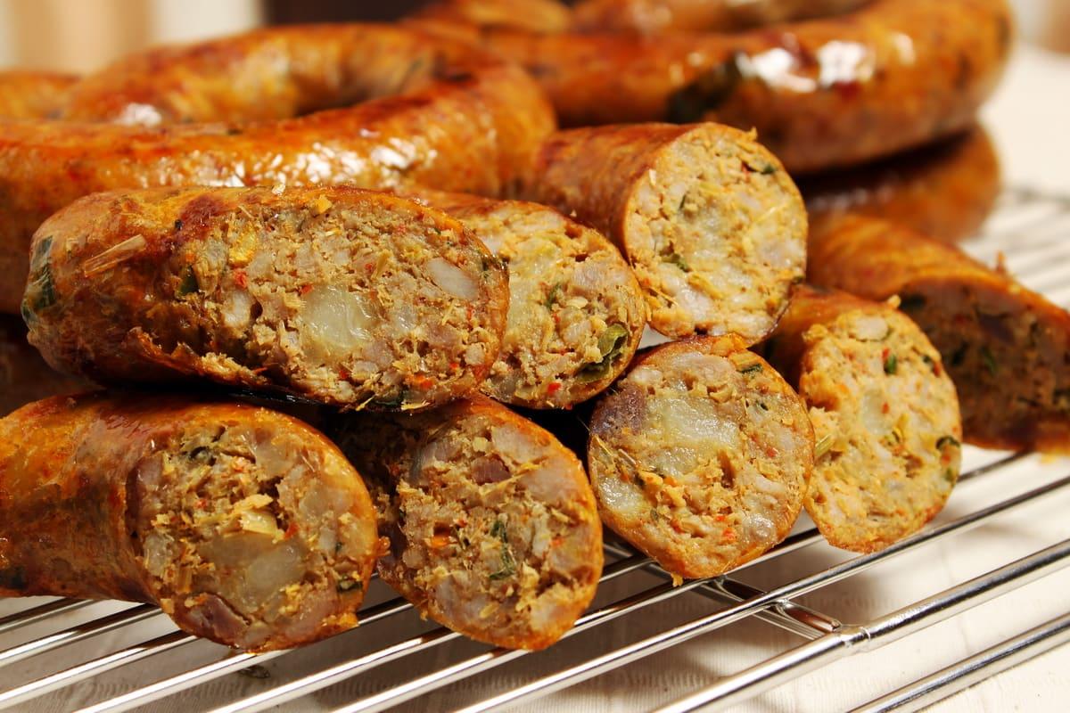 泰北香腸,圖片取自www.taithaione.com。