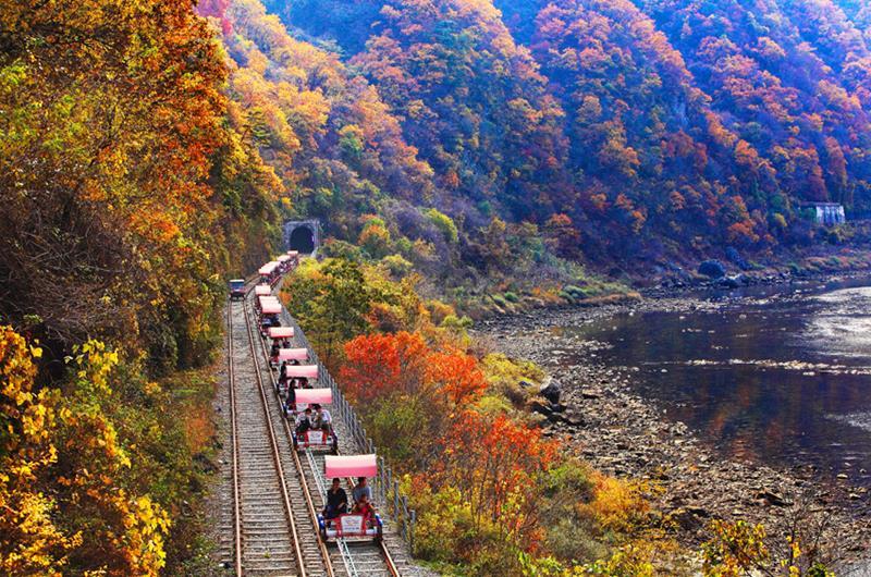 江村鐵路自行車(照片來源:Chuncheon City)