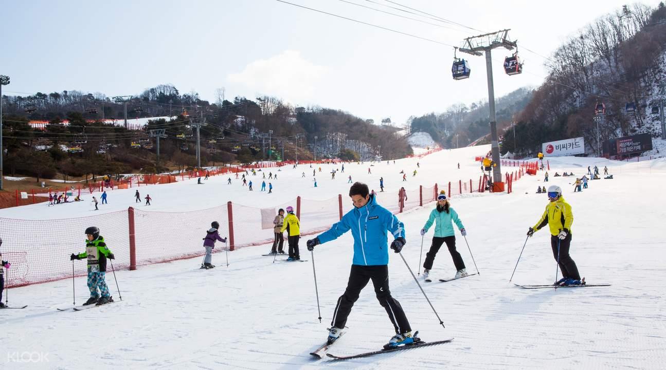 Skiing適合初學者。