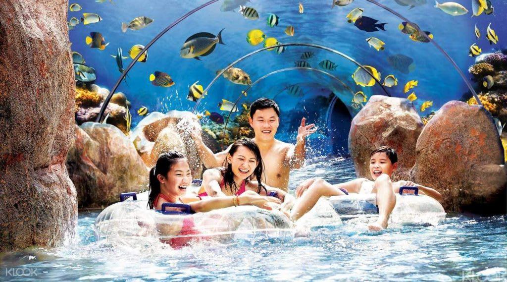 置身於水中世界,來到新加坡聖淘沙水上探險樂園清涼一下
