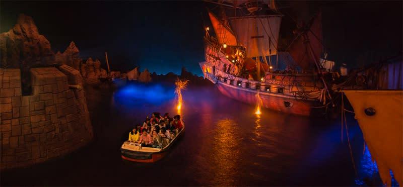 迪士尼樂園,加勒比海盜,圖片取自:迪士尼官網。