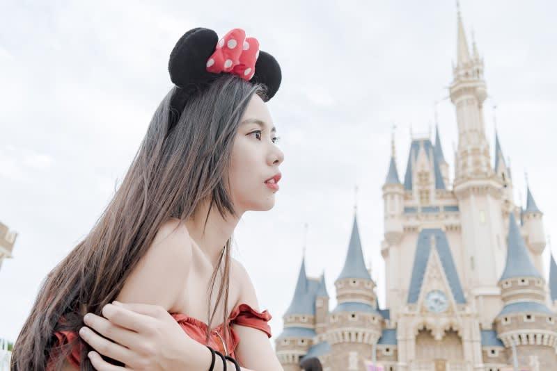 迪士尼樂園拍照踩點,迪士尼城堡。