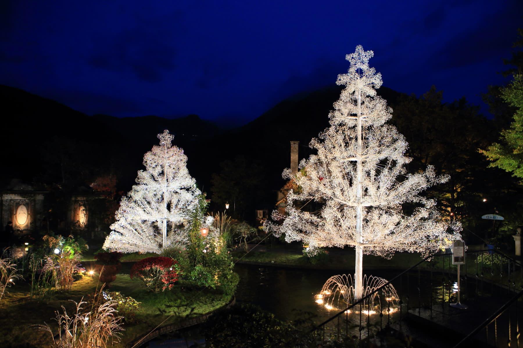 光之迴廊,圖片取自www.hakone-garasunomori.jp。