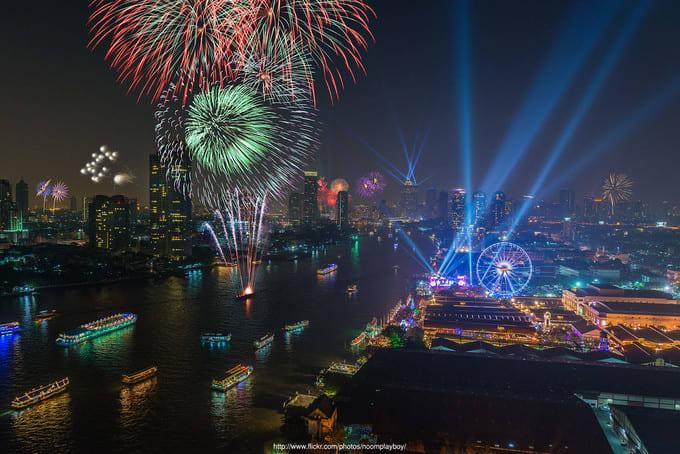 Asiatique 河濱夜市,圖片取自www.mafengwo.cn。