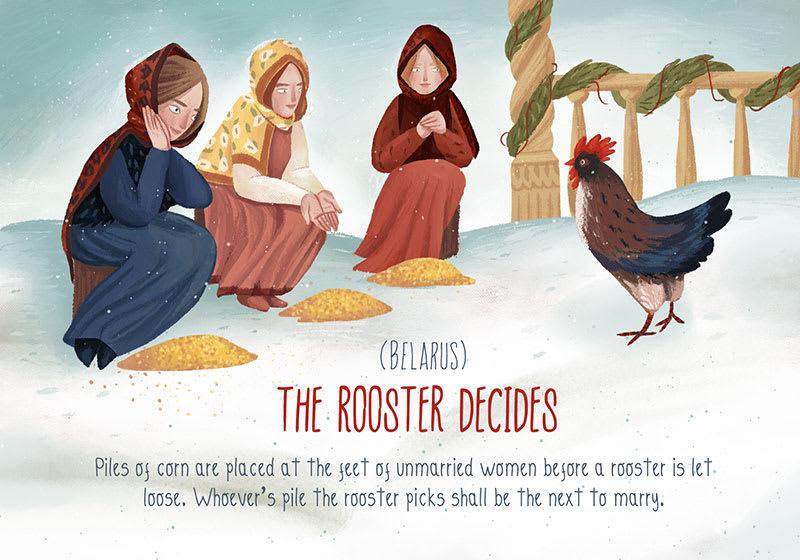 被公雞選中的女孩,就會是下一個幸福人妻,圖片取自www.vashi.com。