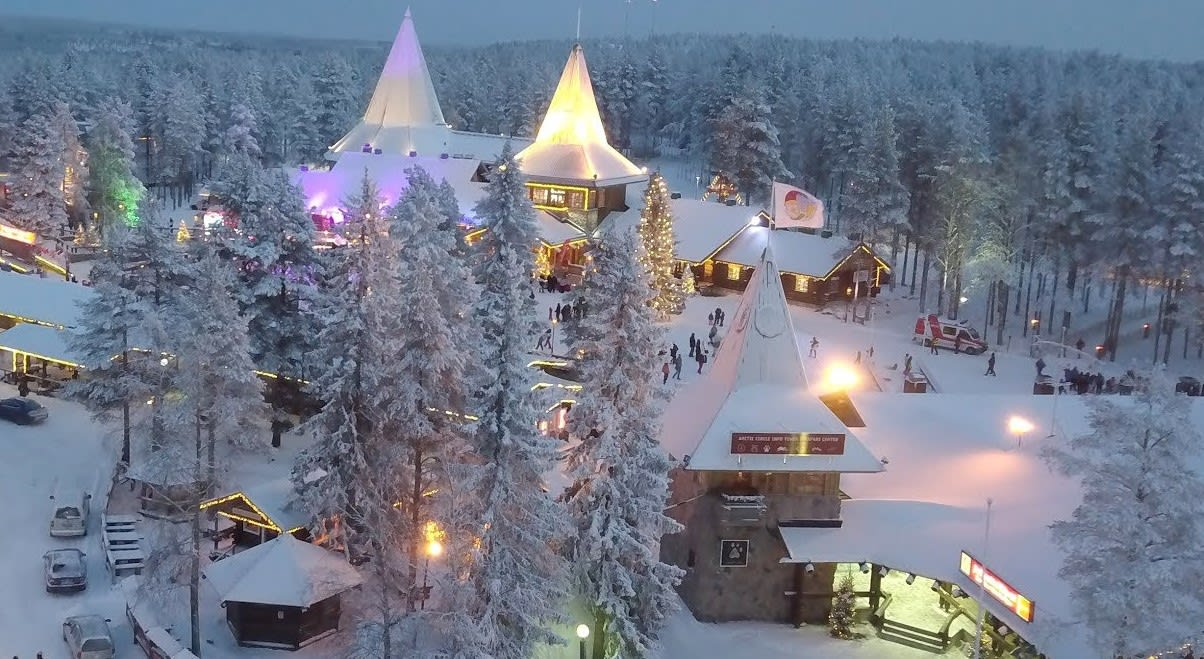 芬蘭羅瓦涅米,圖片取自youtube。
