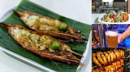 除了較為高價的螃蟹之外,較為平價的虎蝦也是海鮮的好選擇。