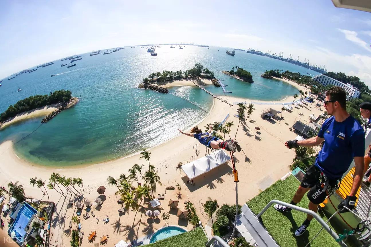 【新加坡自由行】聖淘沙10極限活動超詳細懶人包!高空彈跳、滑車...交通、費用一次搞定